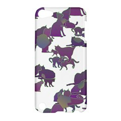 Many Cats Silhouettes Texture Apple Ipod Touch 5 Hardshell Case