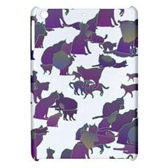 Many Cats Silhouettes Texture Apple Ipad Mini Hardshell Case