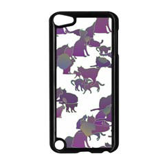 Many Cats Silhouettes Texture Apple iPod Touch 5 Case (Black)