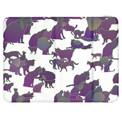 Many Cats Silhouettes Texture Samsung Galaxy Tab 7  P1000 Flip Case