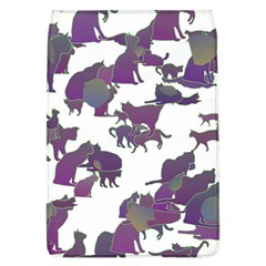 Many Cats Silhouettes Texture Flap Covers (l)