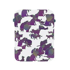 Many Cats Silhouettes Texture Apple Ipad 2/3/4 Protective Soft Cases