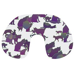 Many Cats Silhouettes Texture Travel Neck Pillows