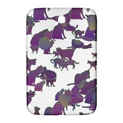 Many Cats Silhouettes Texture Samsung Galaxy Note 8 0 N5100 Hardshell Case