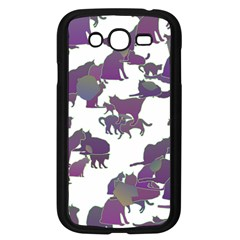 Many Cats Silhouettes Texture Samsung Galaxy Grand Duos I9082 Case (black)