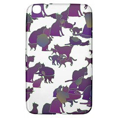 Many Cats Silhouettes Texture Samsung Galaxy Tab 3 (8 ) T3100 Hardshell Case