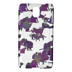 Many Cats Silhouettes Texture Samsung Galaxy Note 3 N9005 Hardshell Case