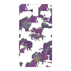 Many Cats Silhouettes Texture Samsung Galaxy Note 3 N9005 Hardshell Back Case