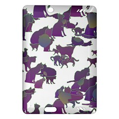 Many Cats Silhouettes Texture Amazon Kindle Fire Hd (2013) Hardshell Case