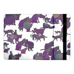 Many Cats Silhouettes Texture Samsung Galaxy Tab Pro 10 1  Flip Case