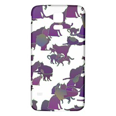 Many Cats Silhouettes Texture Samsung Galaxy S5 Back Case (white)
