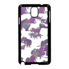 Many Cats Silhouettes Texture Samsung Galaxy Note 3 Neo Hardshell Case (black)