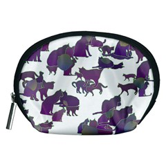 Many Cats Silhouettes Texture Accessory Pouches (medium)