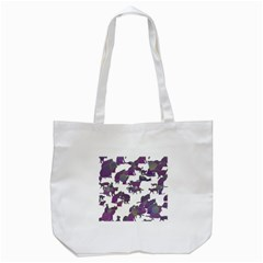 Many Cats Silhouettes Texture Tote Bag (white)
