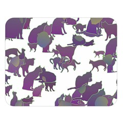 Many Cats Silhouettes Texture Double Sided Flano Blanket (large)