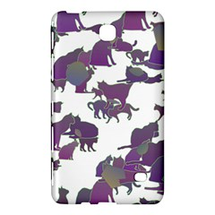 Many Cats Silhouettes Texture Samsung Galaxy Tab 4 (8 ) Hardshell Case