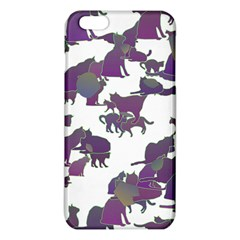 Many Cats Silhouettes Texture iPhone 6 Plus/6S Plus TPU Case