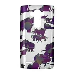Many Cats Silhouettes Texture Lg G4 Hardshell Case