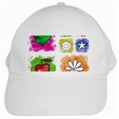 A Set Of Watercolour Icons White Cap