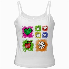 A Set Of Watercolour Icons Ladies Camisoles