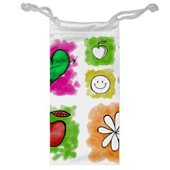 A Set Of Watercolour Icons Jewelry Bag
