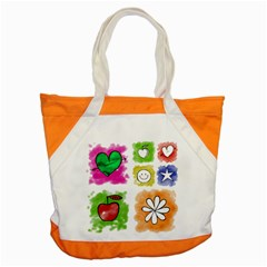 A Set Of Watercolour Icons Accent Tote Bag