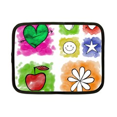 A Set Of Watercolour Icons Netbook Case (small)