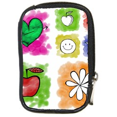 A Set Of Watercolour Icons Compact Camera Cases