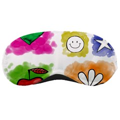 A Set Of Watercolour Icons Sleeping Masks