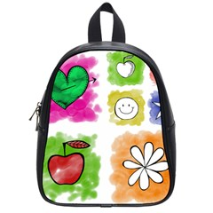 A Set Of Watercolour Icons School Bags (small)