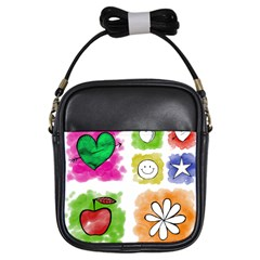 A Set Of Watercolour Icons Girls Sling Bags