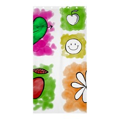A Set Of Watercolour Icons Shower Curtain 36  X 72  (stall)
