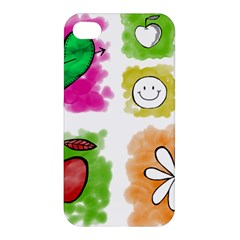 A Set Of Watercolour Icons Apple Iphone 4/4s Hardshell Case