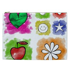 A Set Of Watercolour Icons Cosmetic Bag (xxl)