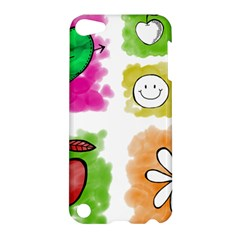 A Set Of Watercolour Icons Apple Ipod Touch 5 Hardshell Case