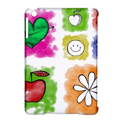 A Set Of Watercolour Icons Apple Ipad Mini Hardshell Case (compatible With Smart Cover)