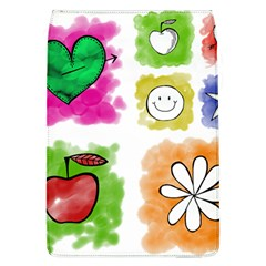A Set Of Watercolour Icons Flap Covers (l)