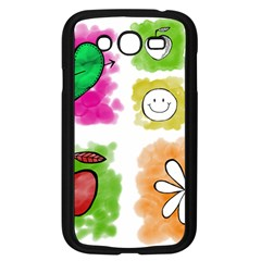 A Set Of Watercolour Icons Samsung Galaxy Grand Duos I9082 Case (black)
