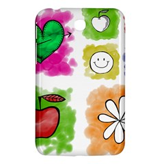 A Set Of Watercolour Icons Samsung Galaxy Tab 3 (7 ) P3200 Hardshell Case