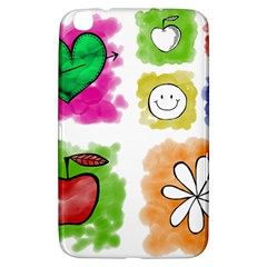 A Set Of Watercolour Icons Samsung Galaxy Tab 3 (8 ) T3100 Hardshell Case