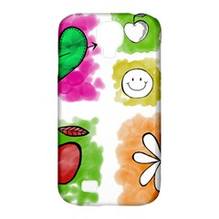 A Set Of Watercolour Icons Samsung Galaxy S4 Classic Hardshell Case (pc+silicone)