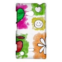 A Set Of Watercolour Icons Nokia Lumia 720