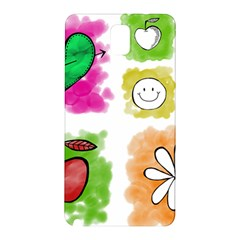 A Set Of Watercolour Icons Samsung Galaxy Note 3 N9005 Hardshell Back Case