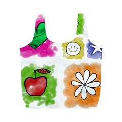 A Set Of Watercolour Icons Full Print Recycle Bags (m)