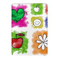 A Set Of Watercolour Icons Samsung Galaxy Tab Pro 10 1 Hardshell Case