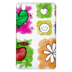 A Set Of Watercolour Icons Samsung Galaxy Tab Pro 8 4 Hardshell Case
