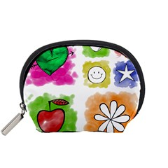 A Set Of Watercolour Icons Accessory Pouches (small)