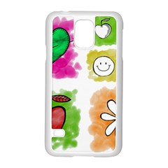 A Set Of Watercolour Icons Samsung Galaxy S5 Case (white)