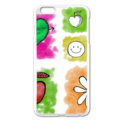 A Set Of Watercolour Icons Apple Iphone 6 Plus/6s Plus Enamel White Case