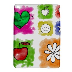 A Set Of Watercolour Icons Ipad Air 2 Hardshell Cases